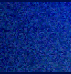dark blue polygonal abstract tiled triangle vector image