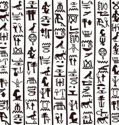 Egyptian hieroglyphics seamless background vector