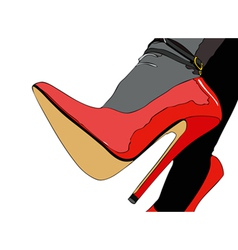 Elegant sexy shoes vector image