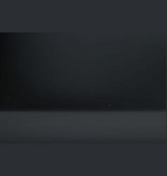 empty dark color studio room vector image