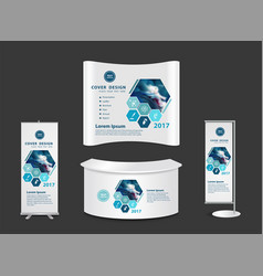 Exhibition stand with another surgery concept vector