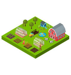 farm isometric concept vector image