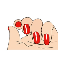 Female Hand vector image vector image