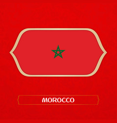 flag of morocco is made in football style vector image