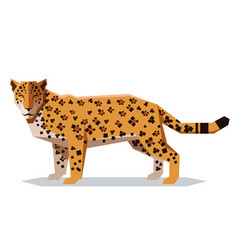 Flat polygonal jaguar vector