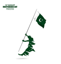 For 14th august independence day pakistan vector