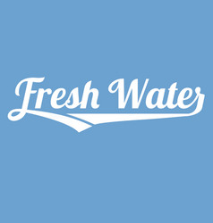 Fresh water alphabet with long tail vector
