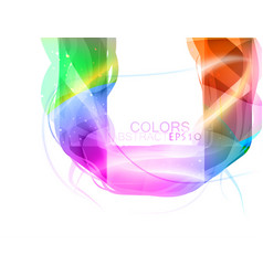 Glossy shape colors vector