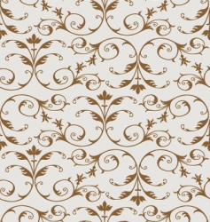 gold floral pattern vector image