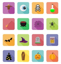 Halloween flat icons 20 vector