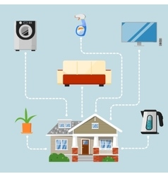 Home improvement concept with house appliances vector image