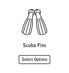 Icon fins scuba diving equipment vector image vector image
