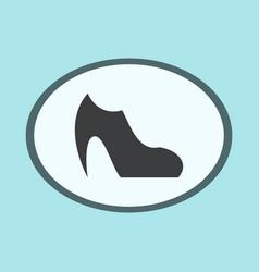 Icon in flat design fashion footwear women boot vector