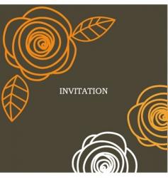invitation background vector image