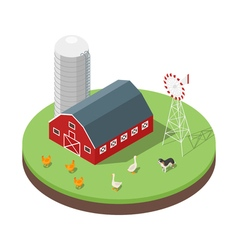 Isometric 3d of farm vector