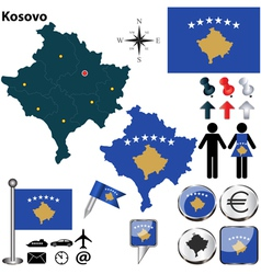 Kosovo map vector