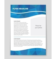 List page mockup brochure theme style banner vector