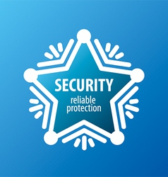 logo of protection in the form of stars vector image