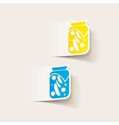 realistic design element pickled vegetables vector image