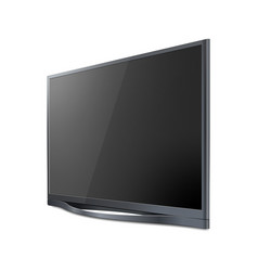 realistic tv screen modern stylish lcd panel led vector image