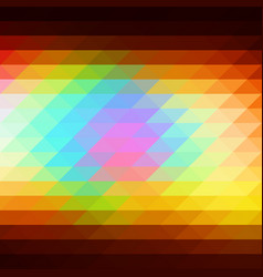 Red pink green blue brown rows of triangles vector