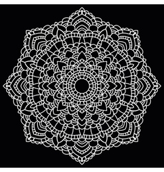 Round lace pattern Mandala vector