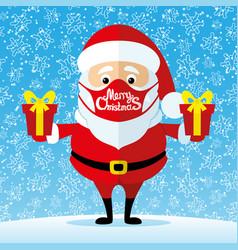 Santa claus in a protective mask vector