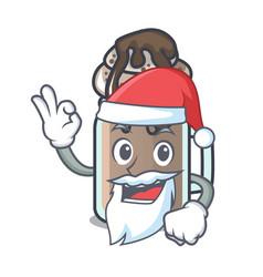 Santa milkshake mascot cartoon style vector