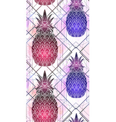 seamless pattern with mystical pineapples with a vector image