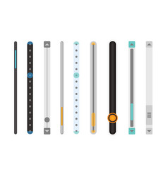 set of scrollbars set vector image