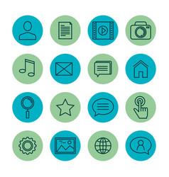 settings menu smartphone icons vector image