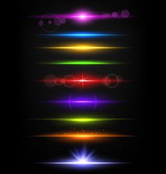 Shiny neon lines borders with glow effect vector