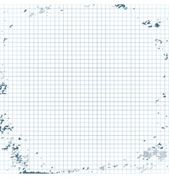 Squared paper background vector image