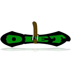 Squeezing diet vector image