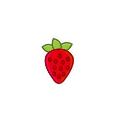 strawberry logo designs inspiration isolated on vector image