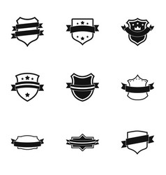 Streamer icons set simple style vector