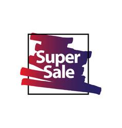 super sale brush template design vector image