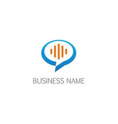 talk bubble communication logo vector image