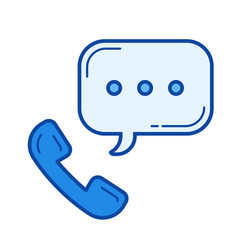 telephone receiver line icon vector image