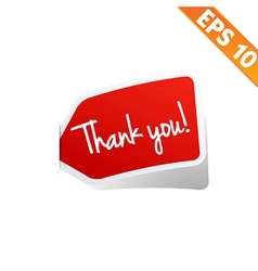 Thank you Sticker tag - - EPS10 vector