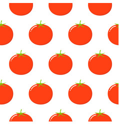 tomatoes seamless pattern in flat style on a vector image