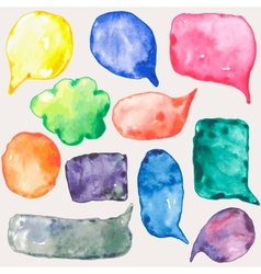 Watercolor speech bubbles vector