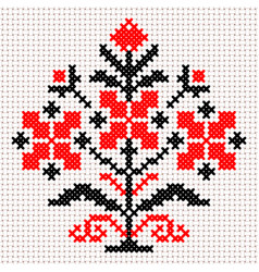 white and red belarus ornament vector image