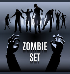 Zombie set vector image