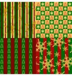 Christmas seamless vector image vector image