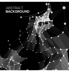 Molecule and communication background in black vector