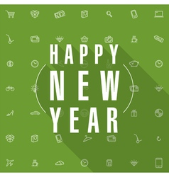 New year shopping card template vector image vector image