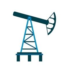 Oil pump flat icon vector