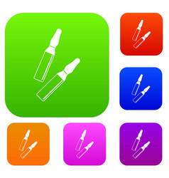 iodine sticks set color collection vector image