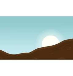 Landscape of ground for game backgrounds vector image